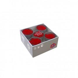 Tête de rose Queen Rouge (boîte de 5)